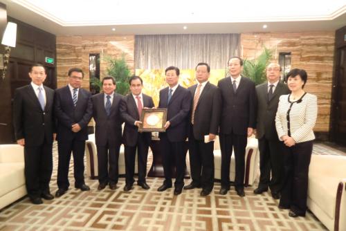 秘魯國會議員代表團與陜西省政協馬中平主席會面